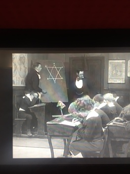 inexplicable Star of David in Mr Mell's classroom