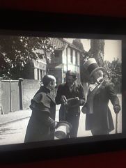 Mister Micawber, Uriah and David meet in the street