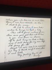 Emily's Letter